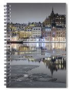 Snowy, Dreamy Reflection In Stockholm Spiral Notebook
