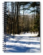 Snowy Drive Spiral Notebook