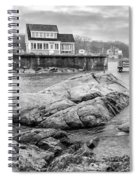 Snowy Fogged In Cove Spiral Notebook