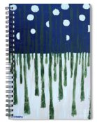 Snowy Forest At Midnight Spiral Notebook