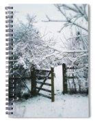 Snowy Garden Gate Three Spiral Notebook