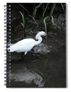 Snowy In The Mud Spiral Notebook