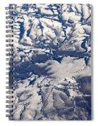 Snowy Landscape Aerial Spiral Notebook