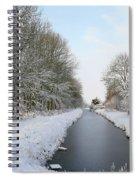Frozen Scenery Along Canal Spiral Notebook