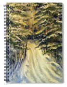 Snowy Lane Spiral Notebook
