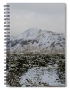 Snowy Lava Fields Iceland Spiral Notebook