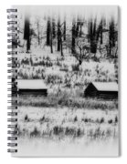Snowy Log Cabins At Valley Forge Spiral Notebook