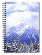 Snowy Mountain Spiral Notebook
