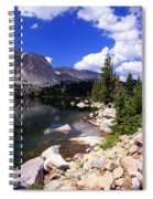 Snowy Mountain Lake Spiral Notebook