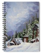Snowy Mountain Resort Spiral Notebook