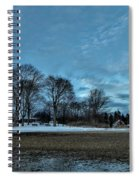 Snowy Obear Park, Beverly Ma, At Dusk Spiral Notebook