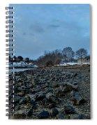 Snowy Obear Park, Beverly Ma, At Dusk Spiral Notebook