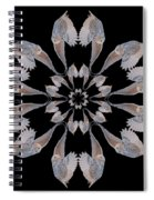 Snowy Owl Snowflake Spiral Notebook