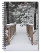 Snowy Path Spiral Notebook