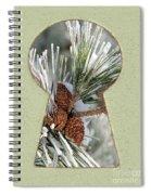 Snowy Pine Keyhole Spiral Notebook