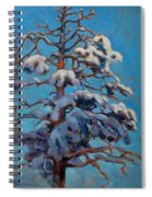Snowy Pine-tree Spiral Notebook