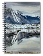 Snowy Reflections In Medicine Lake Spiral Notebook