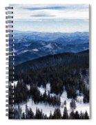 Snowy Ridges - Impressions Of Mountains Spiral Notebook