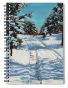 Snowy Road Home Spiral Notebook