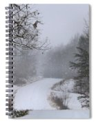 Snowy Road Spiral Notebook