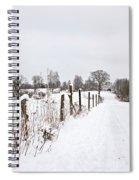 Snowy Rural Landscape Spiral Notebook