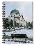 Snowy St. Sava Temple In Belgrade Spiral Notebook