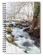 Snowy Stream Landscape Spiral Notebook