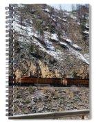 Snowy Train Spiral Notebook