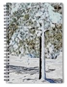 Snowy Tree Spiral Notebook