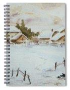 Snowy Village Spiral Notebook