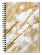Snowy Weed Spiral Notebook