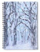 Snowy Woods  Spiral Notebook