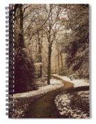 Snowy Woodland Walk One Spiral Notebook