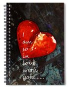 So In Love With You - Romantic Red Heart Painting Spiral Notebook
