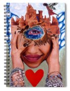 Soap Scene # 12 Sandcastle Shrine Spiral Notebook