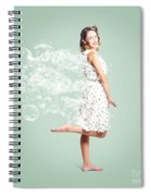 Soap Suds Pin Up Girl Spiral Notebook