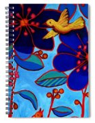 Soaring And Blooming Spiral Notebook