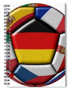 Soccer Ball With Flag Of German In The Center Spiral Notebook