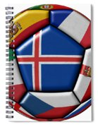 Soccer Ball With Flag Of Iceland In The Center Spiral Notebook