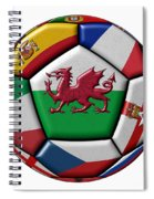 Soccer Ball With Flag Of Wales In The Center Spiral Notebook