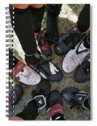 Soccer Feet Spiral Notebook