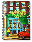 Soccer Game At The Bagel Shop Spiral Notebook