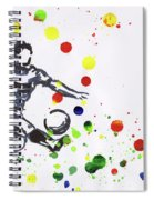 Soccer Player In Action Spiral Notebook