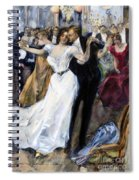 Society Ball, C1900 Spiral Notebook