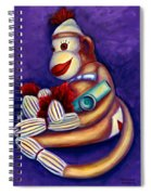 Sock Monkey With Kazoo Spiral Notebook