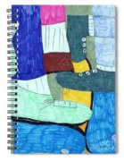 Socks And Shoes Spiral Notebook