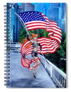 Sofia Metal Queen. Born 4th Of July Spiral Notebook