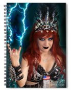 Sofia Metal Queen. Metal Is Lifestyle Spiral Notebook