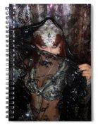 Sofia Metal Queen - Black Metal Bellydancer Model Spiral Notebook