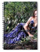 Sofia Of Ameynra. Cybergoth Belly Dancer Spiral Notebook